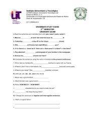 grammar study guide 2 semester ordinary exam - Instituto ...