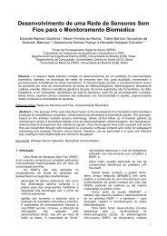 Desenvolvimento de uma Rede de Sensores Sem Fios para ... - SBIS