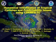 Dynamical initialization of tropical cyclones and - HFIP