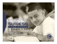 Student Success Task Force Recommendations - California ...