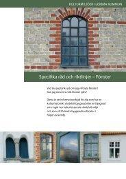 Specifika råd och riktlinjer – Fönster - Lomma kommun