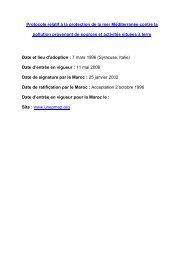 Protocole relatif à la protection de la mer Méditerranée contre la ...