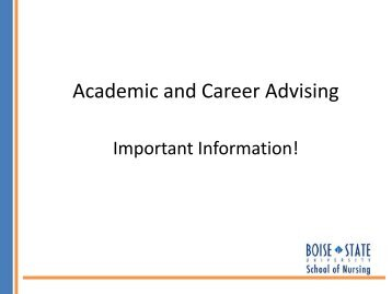 Academic and Career Advising - College of Health Sciences