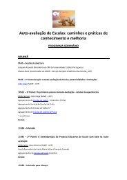 Auto-avaliação de Escolas - Universidade Católica Portuguesa