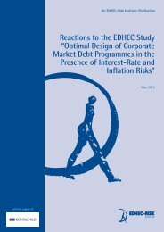 Reactions to the EDHEC Study - Faculty and Research