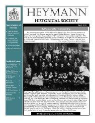Spring 2010 Newsletter - Heymann Historical Society