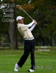 2012-13 Men's Golf Media Guide - Rhode Island College Athletics