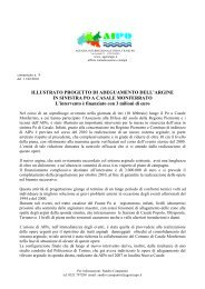 Comunicato n.8-2010 - Agenzia Interregionale per il fiume Po