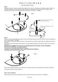 Console Top Handling Instructions - Page 3