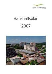 Haushaltsplan 2007 - Nancy Faeser MdL