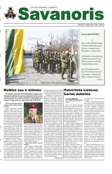 Patvirtinta Lietuvos karinė doktrina Reiklus sau ir kitiems - Krašto ...