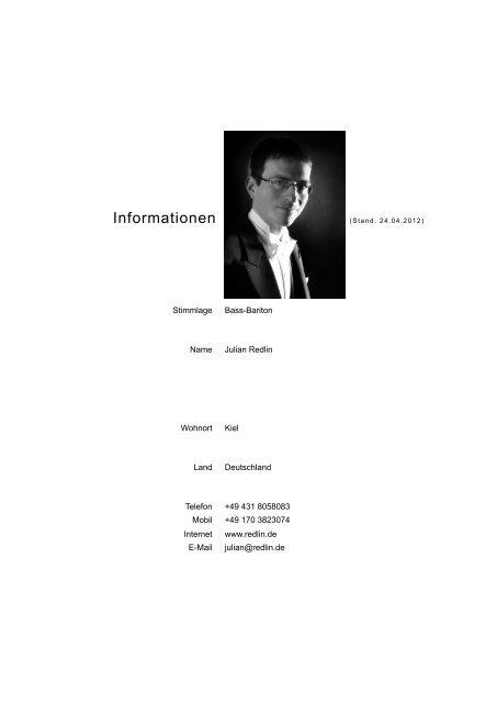Ausführlicher Lebenslauf Pdf Datei Julian Redlin