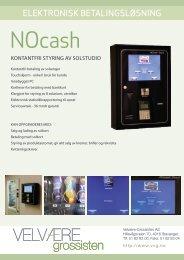 NOcash Touch produktark - Velvære-Grossisten AS