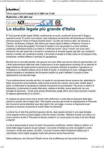 Lo studio legale più grande d'Italia - Avvocato di strada