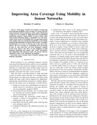 Improving Area Coverage Using Mobility in Sensor Networks