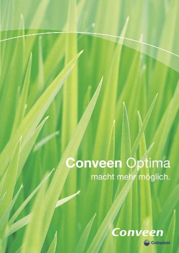 Broschüre Conveen Optima - Coloplast