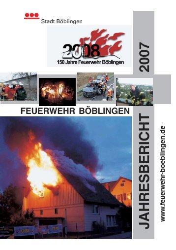 Jahresbericht 2007 - Feuerwehr Böblingen