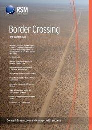 Border Crossing - 3rd Quarter 2013