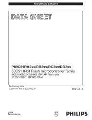 P89C51RA2xx/RB2xx/RC2xx/RD2xx 80C51 8-bit Flash ...