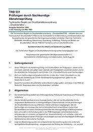 TRB 531 Prüfungen durch Sachkundige Abnahmeprüfung