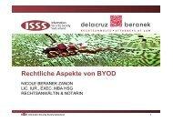 ISSS_Rechtliche Aspekte BYOD-Nicole Beranek Zanon
