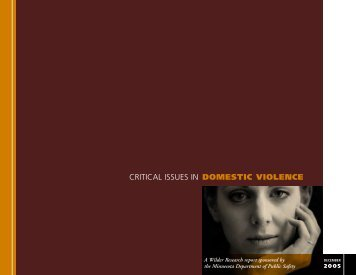 DOMESTIC VIOLENCE CRITICAL ISSUES IN