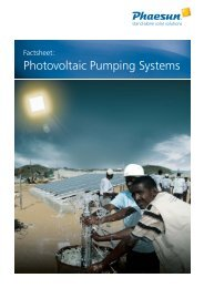 Photovoltaic Pumping Systems - Phaesun