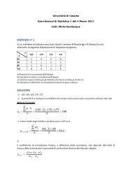 Correlazione, regressione lineare.