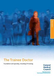 The Trainee Doctor - General Medical Council
