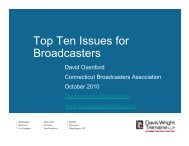Top Ten Issues for Broadcasters