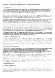 Allgmeine Vertrags- und Reisebedingungen - Zumstein Reisen