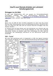 Version 0.3 - Lehrstuhl für Schaltungstechnik und Simulation