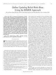 Online Updating Belief-Rule-Base Using the RIMER ... - IEEE Xplore