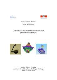 Contrôle du mouvement chaotique d'un pendule magnétique - LA