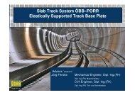 SLAB TRACK SYSTEM ÖBB-PORR