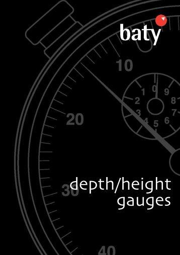 depth/height gauges - Baty International