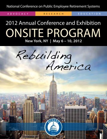 Onsite Program Book - NCPERS