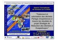 Présentation du CIFAL Ouagadougou, Coordonnateur CIFAL ...