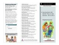 Inscripciones del Kinder Para el Año Escolar 2012-2013