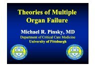 Michael Pinsky Theories of multiple organ failure