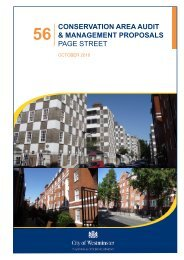 conservation area audit & management proposals page street
