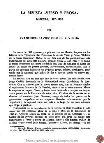 La revista Verso y prosa