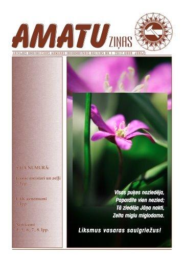 Amatu ziņas jūnijs 2012.pdf - Latvijas Amatniecības kamera