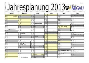 Jahresplan 2013