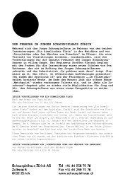 06 Februar_Communiqué - Junges Schauspielhaus Zürich