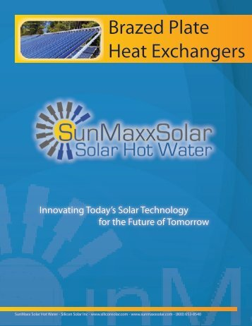 Brazed Plate Heat Exchangers - SunMaxx Solar