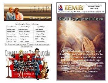 Ministerio de Comunicaciones Email: iembcommunications@live.com