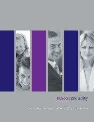 Memoria anual Banco Security 2010 Fecha de publicación 03/03/2011