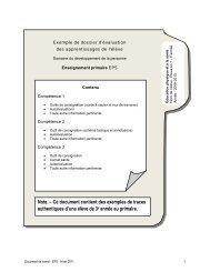 Exemple de dossier d'évaluation des apprentissages de l'élève