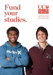Fund your studies. 2013 scholarships - University of Canterbury